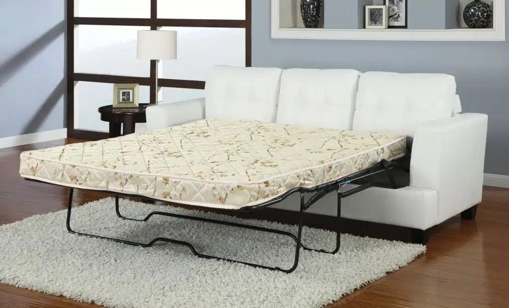 Platinum Leather Sleeper Sofa W Queen Mattress Kfrooms