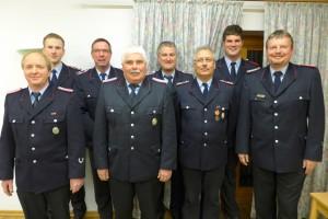 von links: Ralf Harms, Lars Petznik, Uwe Severloh, Friedrich Falke, Stephan Schmidt, Lothar Friese, Helge Seiler, Horst Busch