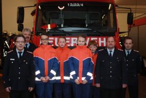 Bild von links: Michael Dierks, Michael Sander, Joel Hubach, Niko Heins, Leonie Passuth, Paul Wellmann, Frank Kroll und Thorsten Persuhn
