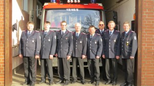 Bild von Links: Harald Röper, Axel Ebel, Dirk Ohlhoff, Helmut Kohrs, Matthias Klages, Hans Helmut Bortels, Jörg Kohrs, Heinrich Kohrs