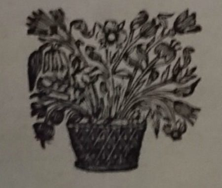 Flower pot engraving