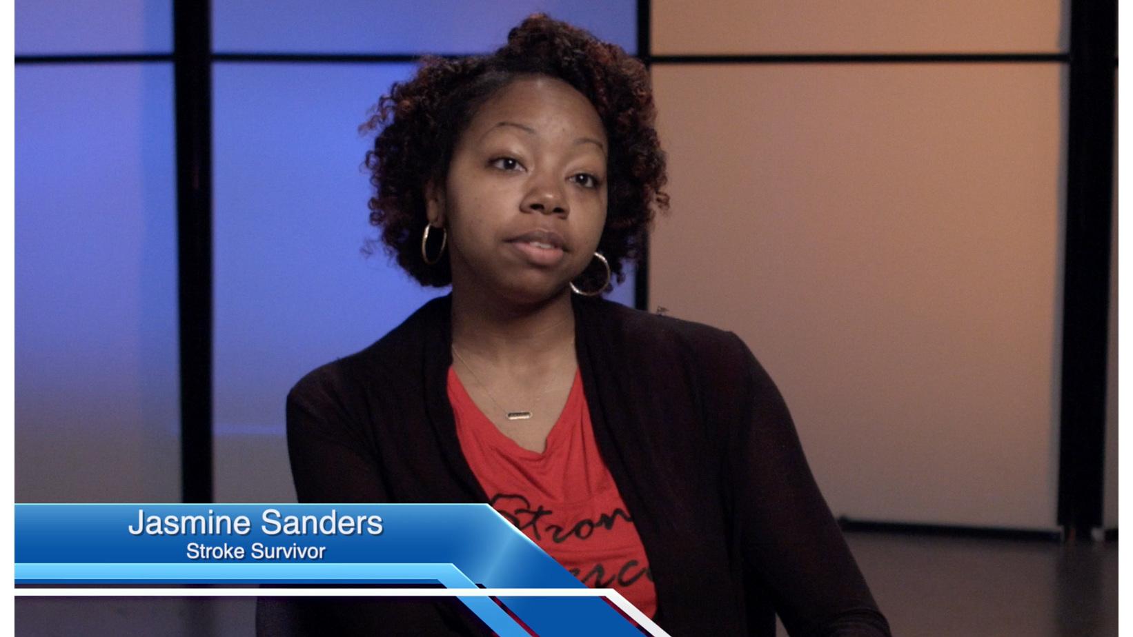 Jasmine Sanders is a stroke survivor