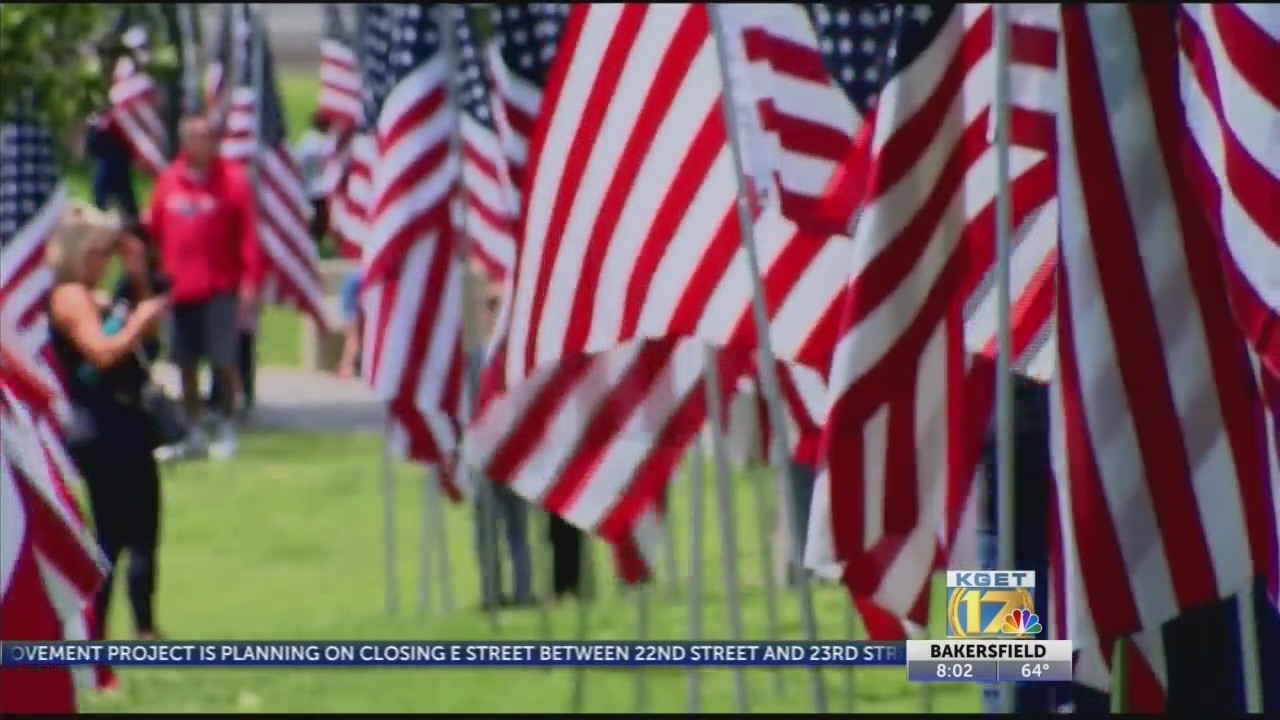 Memorial Day Thousand Flags Tribute at Park at River Walk