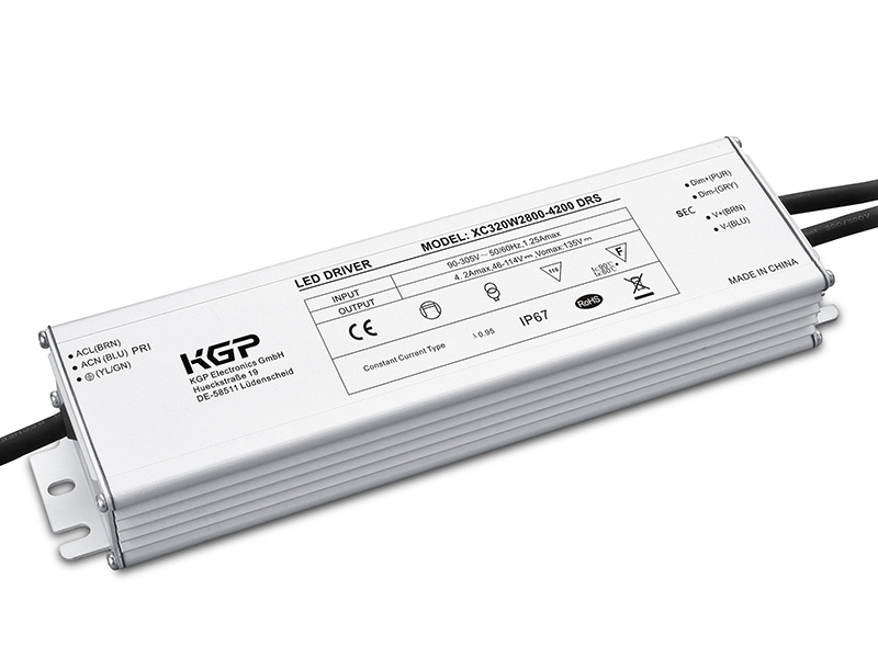 Outdoor IP67, Constant Current LED Driver with 320W and