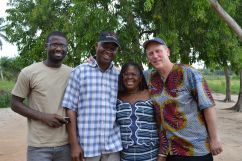 Emmanuel, Henry and Victoria Ametefee, and Robert