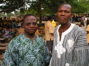 KOBLAS teachers, Ransford Atsu and Frank Sevor
