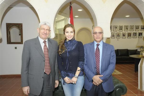 Rola Saad in Lebanese Embassy