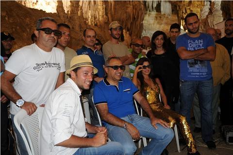 president rotana Salem Al Hendi and rotana team checking 3 D shots