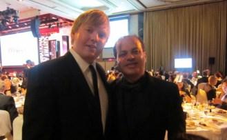 Sir Peter Ustinov Script Writing Emmy Award Winner, Robert Goldsbrough with Emmy Award Juror Wissam Chahine,IMG_2290