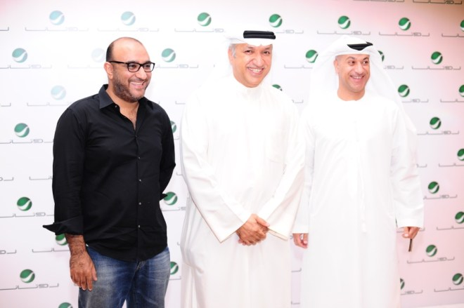 Mr Salem between Fouad Sharaf(left) & Hassan Taleb