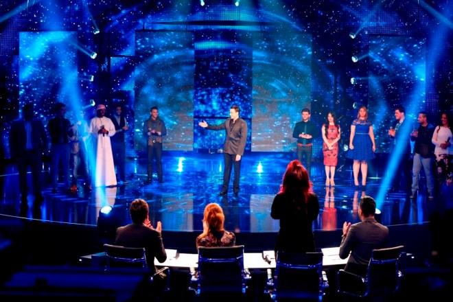 MBC1 & MBC MASR Arab Idol S3 - Live Round -  Medley - 12 contestants with Saber Rubai (5)