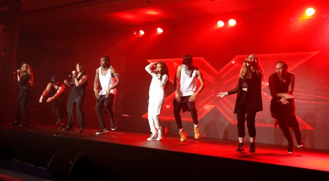(5) MBC4 & MBC MASR - The X Factor Launch Press Conference- Little Mix performance