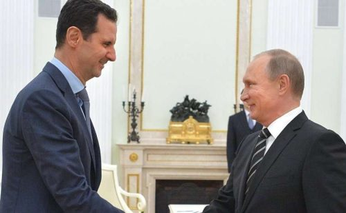 सीरिया युद्ध पर चर्चा के लिए असद से मिले पुतिन