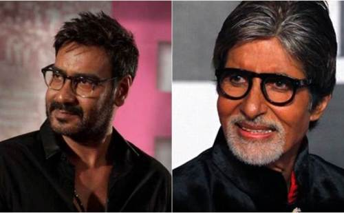 शूटिंग से ब्रेक लेकर अमिताभ बच्चन से मिलने पहुंचे अजय देवगन