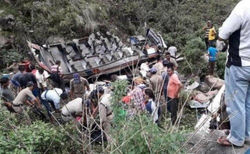 गढ़वाल में बस खाई में गिरी, 45 लोगों की मौत
