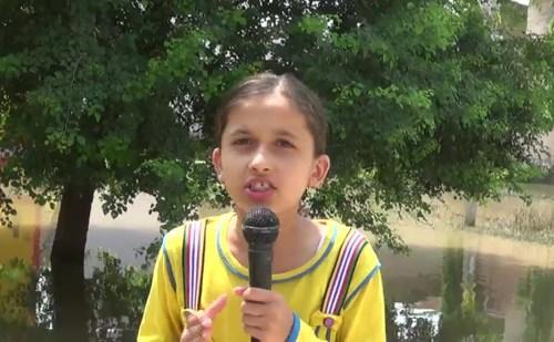कुरुक्षेत्र: 11 साल की नन्हीं रिपोर्टर प्राची ने सोशल मीडिया पर मचाई धूम