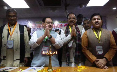 देहरादून पहुंचे बीजेपी के कार्यकारी अध्यक्ष जेपी नड्डा, कार्यकर्ताओं ने किया भव्य स्वागत