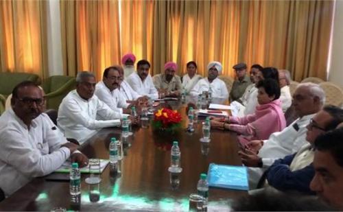 हरियाणा कांग्रेस की बैठक, पूर्व सीएम भूपेन्द्र हुड्डा सहित कई दिग्गज नेता रहे मौजूद