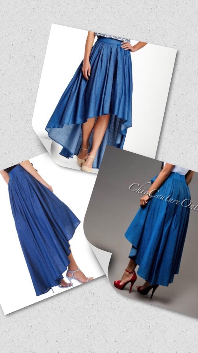 fashion item denim skirt