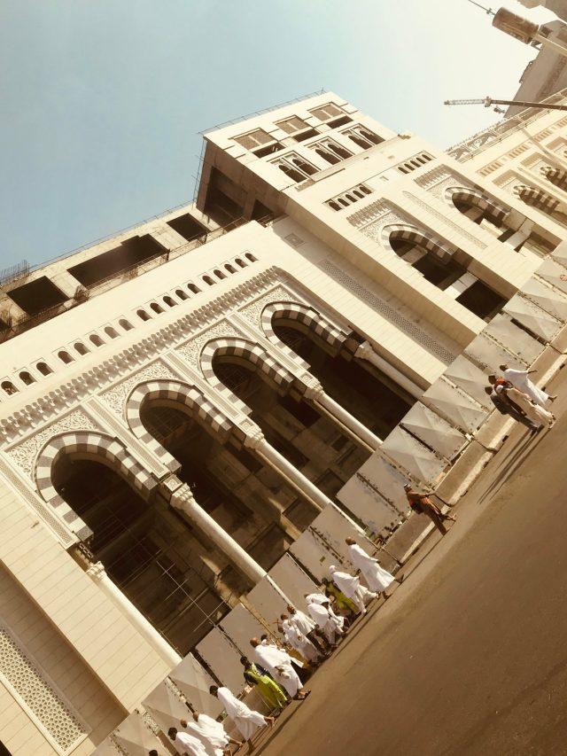 A view of the mosque extension, Al Masjid al haram, mecca, makkah, saudi arabia