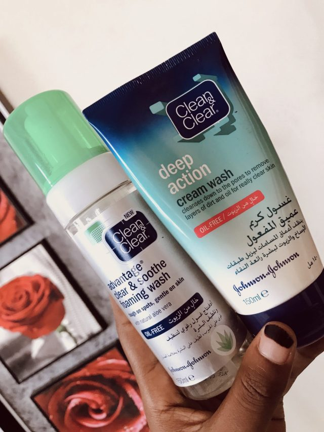 Morning Skincare Routine with Four Clean & Clear Products blogpost khairahscorner facial care foaming cleanser cream wash