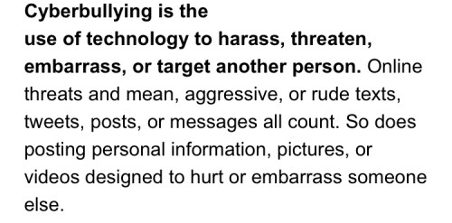 cyber bullying anonymous messaging slander teenshealth definition