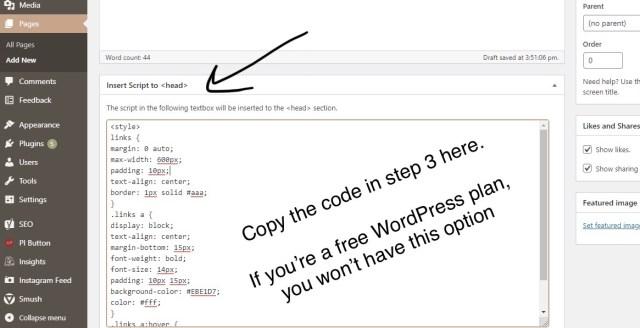 how to create your custom instagram bio link linktree websit khairahscorner step 2