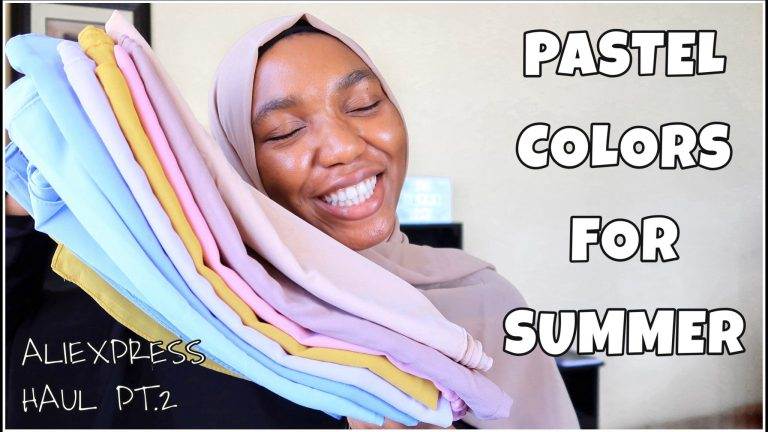 Pastel Colors To Try This Summer – AliExpress Scarf Haul
