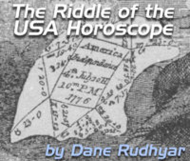Sibley Usa Chart Riddle Of The American Horoscope Dane Rudhyar Rudhyar Archival Project