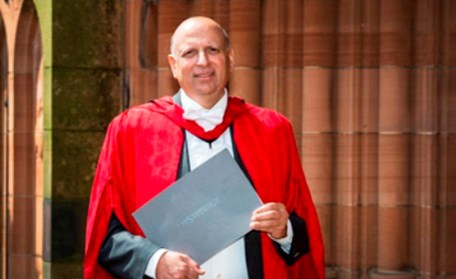 Governer of Punjab, Ch. Mohammad Sarwar gets honorary Ph.D from University of West of Scotland.