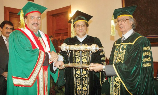 Rehman Malik gets honorary PhD from University  of Karachi