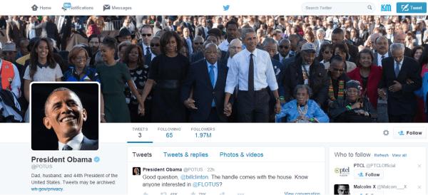 Obama @POTUS