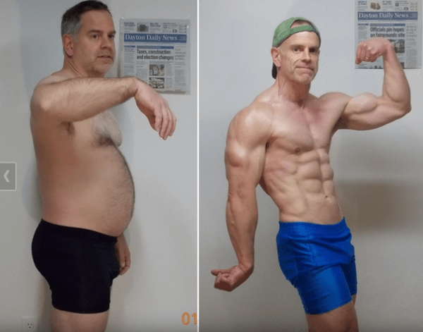 Bodybuilding Before and After