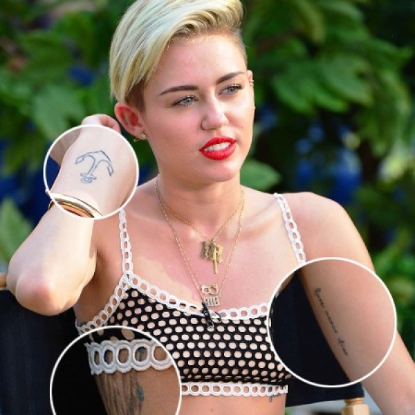 Miley Cyrus Tattoos
