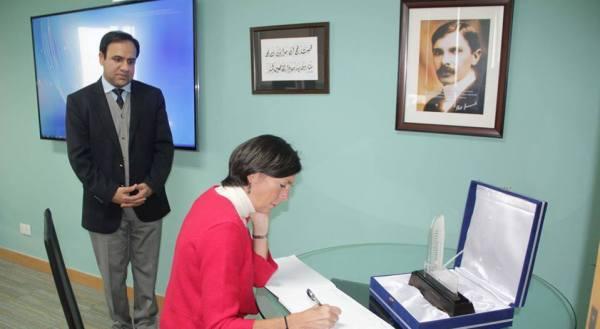 Director DFID Joanna Reid visited Chairman PITB