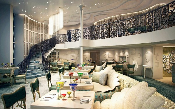 The Harmony Of The Seas has 16 restaurants and cafes