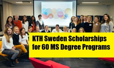 KTH Sweden Scholarships for 60 MS Degree Programs