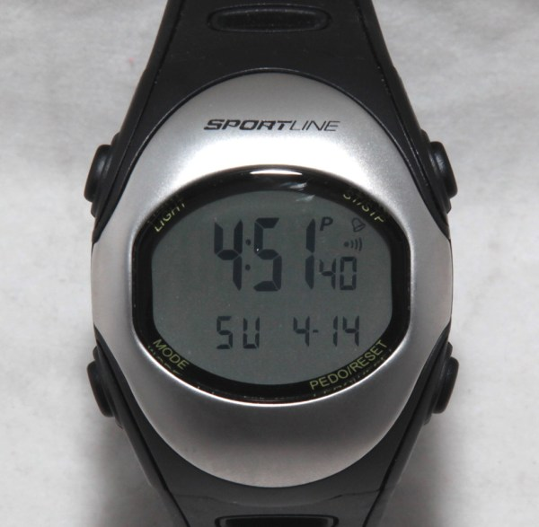 Sportline S12 Heart Rate Monitor Sport Watch And Pedometer Step Counter
