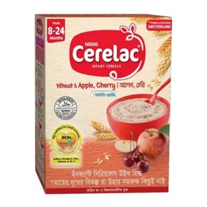 cerelac stage 2 wheat & apple, cherry (8 month+)