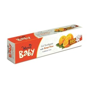 meril baby gel toothpaste orange flavor