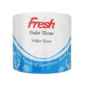 fresh white toilet tissue