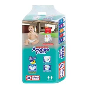 avonee junior 5 baby diaper pants xl (12-17kg) 32pcs