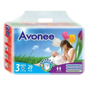 avonee midi 3 baby diaper belt m (4-9kg) 29pcs