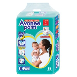 avonee mini 2 baby diaper pants s (4-8kg) 42pcs