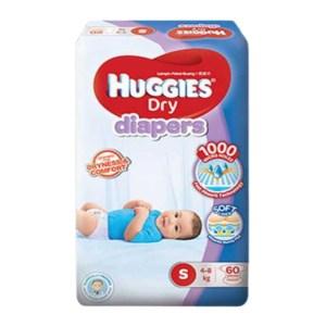 huggies dry baby diaper belt S (4-8kg) 60pcs