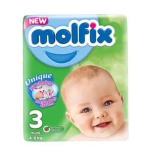 molfix baby diaper belt 3 midi (4-9kg) 68pcs