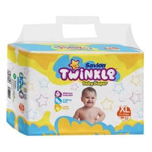 savlon twinkle baby belt diaper xl (11-25kg) 32pcs