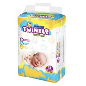 savlon twinkle baby new born diaper belt s (up to 8kg) 44pcs