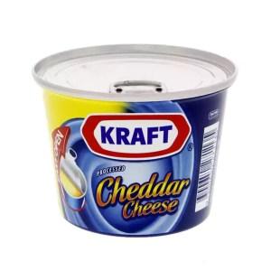 kraft processed cheddar cheese 190gm tin