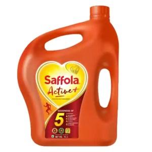 saffola active plus edible oil 5 liter